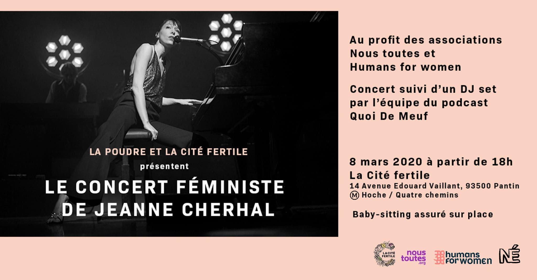 Idées sorties en banlieue parisienne -concert feministe la cité fertile