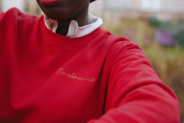 sweat shirt banlieusarde rouge